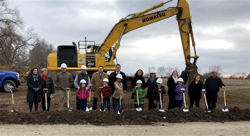 Local elected officials attend the groundbreaking ceremony